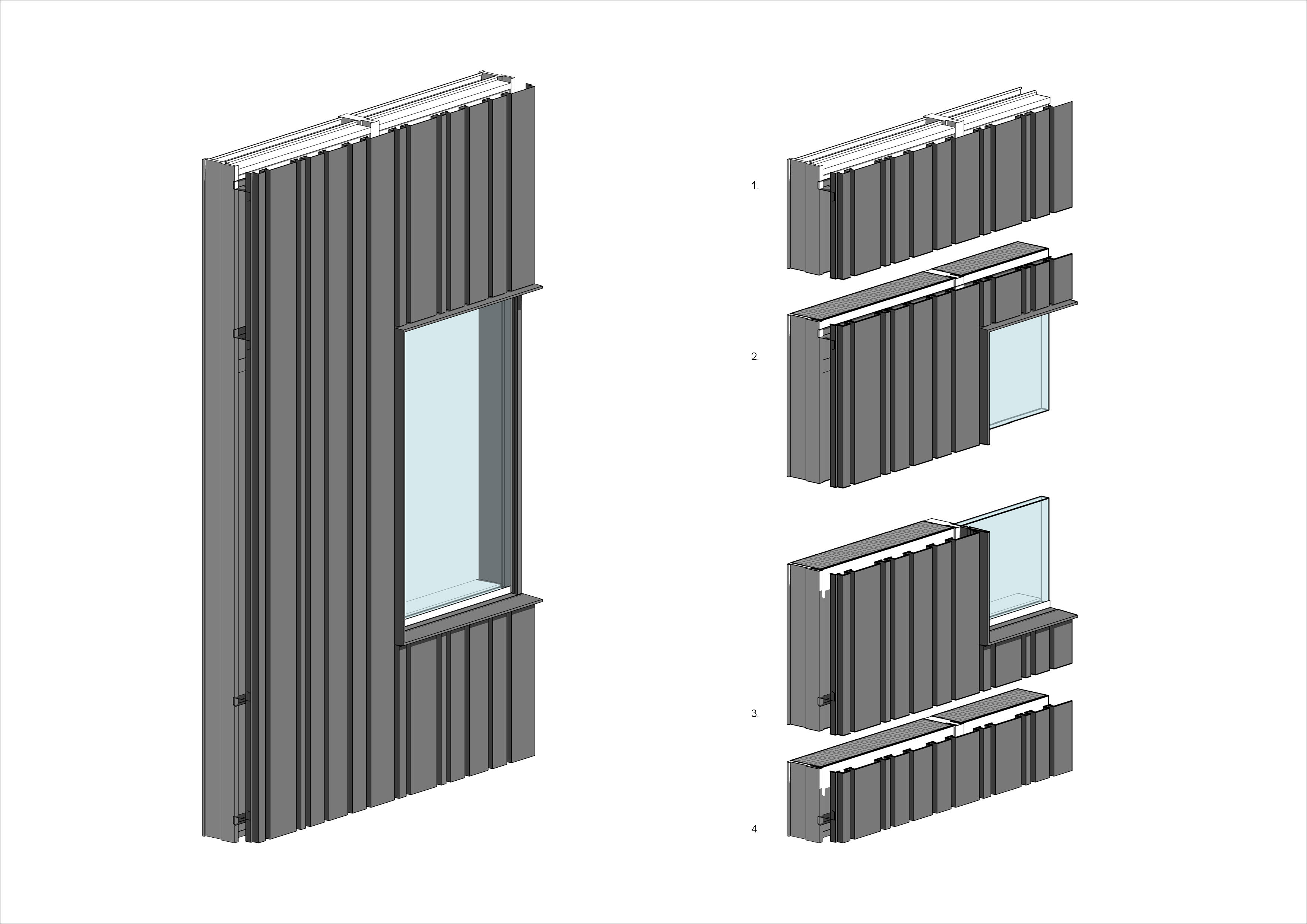 curtain wall panel | Digital story of an architect